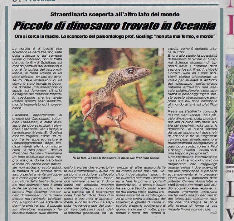 Dinosauro articolo